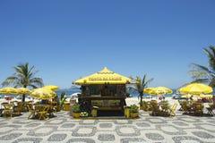 Kiosque de promenade de plage d'Ipanema Photo stock