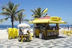 Kiosque de promenade de plage d'Ipanema Image libre de droits