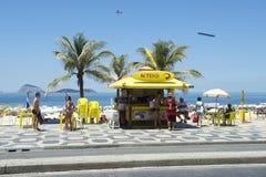 Kiosque de promenade de plage d'Ipanema Images stock