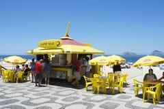 Kiosque de Rio de Janeiro Ipanema Beach Boardwalk Photo stock