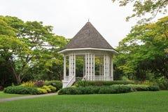 Kiosque à musique dans les jardins botaniques de Singapour Photo stock