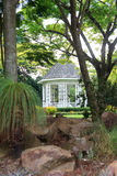 Kiosque à musique dans les jardins botaniques de Singapour Photos stock