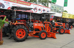 The KIOTI DS4510 tractor. SONGKHLA - August 11 : The KIOTI DS4510 tractor on display at The 21st Agricultural fair on August 11, 2013 in Songkhla, Thailand stock photos