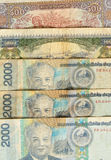 Kip é a moeda de Laos Imagens de Stock Royalty Free
