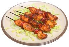 Kip & Chorizo Kebabs Royalty-vrije Stock Fotografie