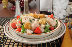 Kip Caesar Salad royalty-vrije stock foto