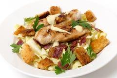 Kip Caesar Salad Royalty-vrije Stock Foto's