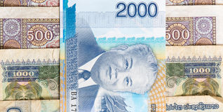 Kip is the currency of Laos. Stock Photos
