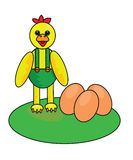 Kip en eieren Royalty-vrije Stock Fotografie