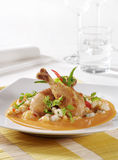 Kip en Gnocchi in de Saus van de Room van de Paprika Stock Foto's