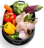 Kip en groenten royalty-vrije stock afbeelding