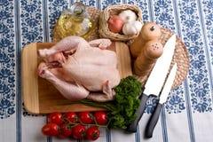 Kip en groenten Stock Fotografie