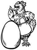 Kip en het ei stock illustratie