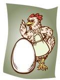 Kip en het ei royalty-vrije illustratie