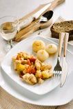 Kip en peper met uien Royalty-vrije Stock Afbeeldingen
