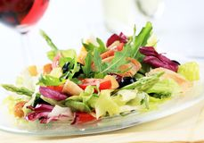 Kip en plantaardige salade Royalty-vrije Stock Afbeelding