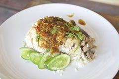 Kip en rijst Royalty-vrije Stock Afbeeldingen
