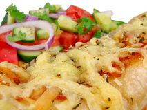 Kip Enchilada & Salade Stock Afbeelding