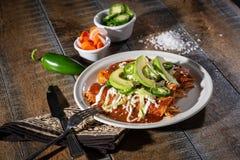 Kip Enchiladas stock afbeelding