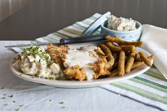 Kip Fried Steak Royalty-vrije Stock Fotografie