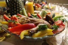 Kip gebakken voedsel Royalty-vrije Stock Foto