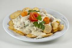 Kip met aardappel Royalty-vrije Stock Fotografie