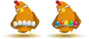 Kip met eieren Stock Foto's