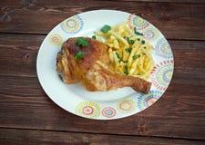 Kip met frieten Royalty Free Stock Photo