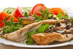Kip met groenten Stock Foto's