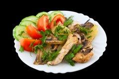 Kip met groenten Stock Fotografie