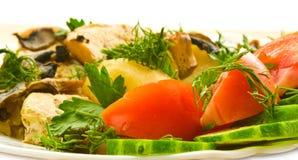 Kip met groenten Royalty-vrije Stock Foto