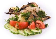 Kip met groenten Stock Afbeeldingen