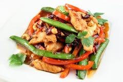 Kip met groenten Stock Afbeelding