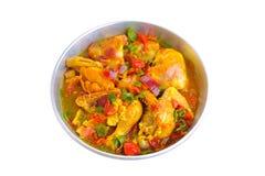Kip met groenten Royalty-vrije Stock Foto's
