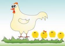 Kip met kip vector illustratie