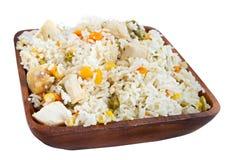 Kip met rijst Stock Afbeelding