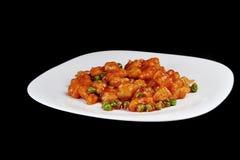 Kip met rode saus Stock Fotografie