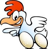 Kip met snelle eieren Royalty-vrije Stock Foto's