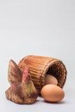 Kip op een witte achtergrond Stock Fotografie