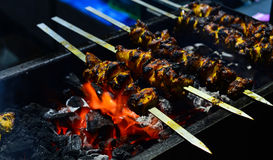 Kip Tikka Kebab Stock Foto