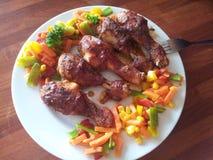 Kip voor Diner Royalty-vrije Stock Foto