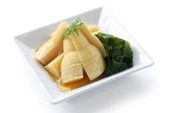 Kipiący bambusowi krótkopędy Fotografia Stock