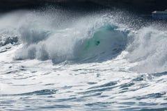 Kipiel i kiść na Północnym Cornwall wybrzeżu zdjęcia royalty free