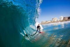 Kipiel jeźdza błękita fala woda Fotografia Stock