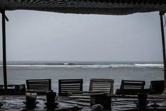 Kipiel przy Serangan plażą zdjęcie stock