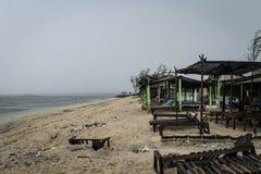 Kipiel przy Serangan pla?? zdjęcia stock