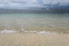 Kipiel przy Serangan pla?? zdjęcie stock