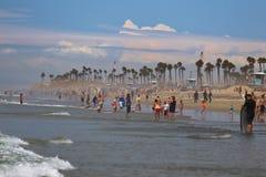 Kipieli miasta usa przy Huntington plażą zdjęcie royalty free