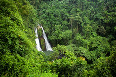 Kipot Twin Falls Philippines Tropical Jungle Stock Photography