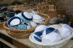 Kippa, jüdische Einzelteile lizenzfreies stockfoto